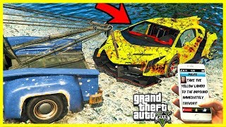 TOWING LAMBORGHINI VENENO OUT OF THE RIVER! (GTA 5 Mods)