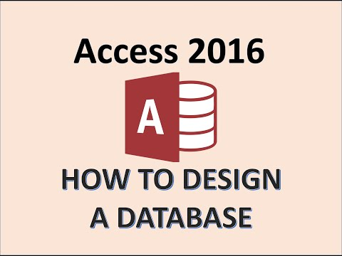 Access 2016 - Tutorials for Beginners - How To Create, Start, and Design Database Tutorial - MOS 365 thumbnail