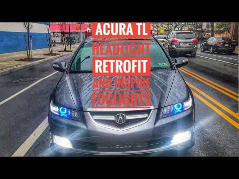 ACURA TL CUSTOM RETROFIT HEADLIGHTS AND INSPIRE FOG LIGHTS