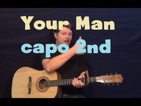Your Man (Josh Turner) Easy Strum Guitar Lesson How to Play Tutorial Capo 2nd Fret