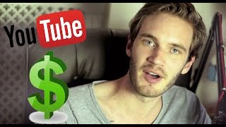 How much does Pewdiepie make on Youtube