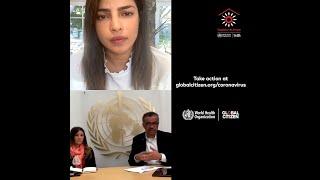 Priyanka Chopra Jonas hosts a Q&A with the World Health Organization for Together At Home