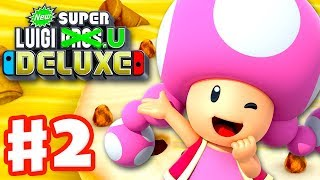 New Super Luigi U Deluxe - Gameplay Walkthrough Part 2 - Layer-Cake Desert 100%! (Nintendo Switch)