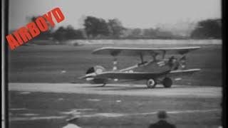 Biplane Dead Stick Landing Ernst Udet - Chicago International Air Races 1933