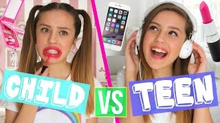 One of Olivia Grace's most viewed videos: CHILD VS TEEN!!! | Oliviagrace