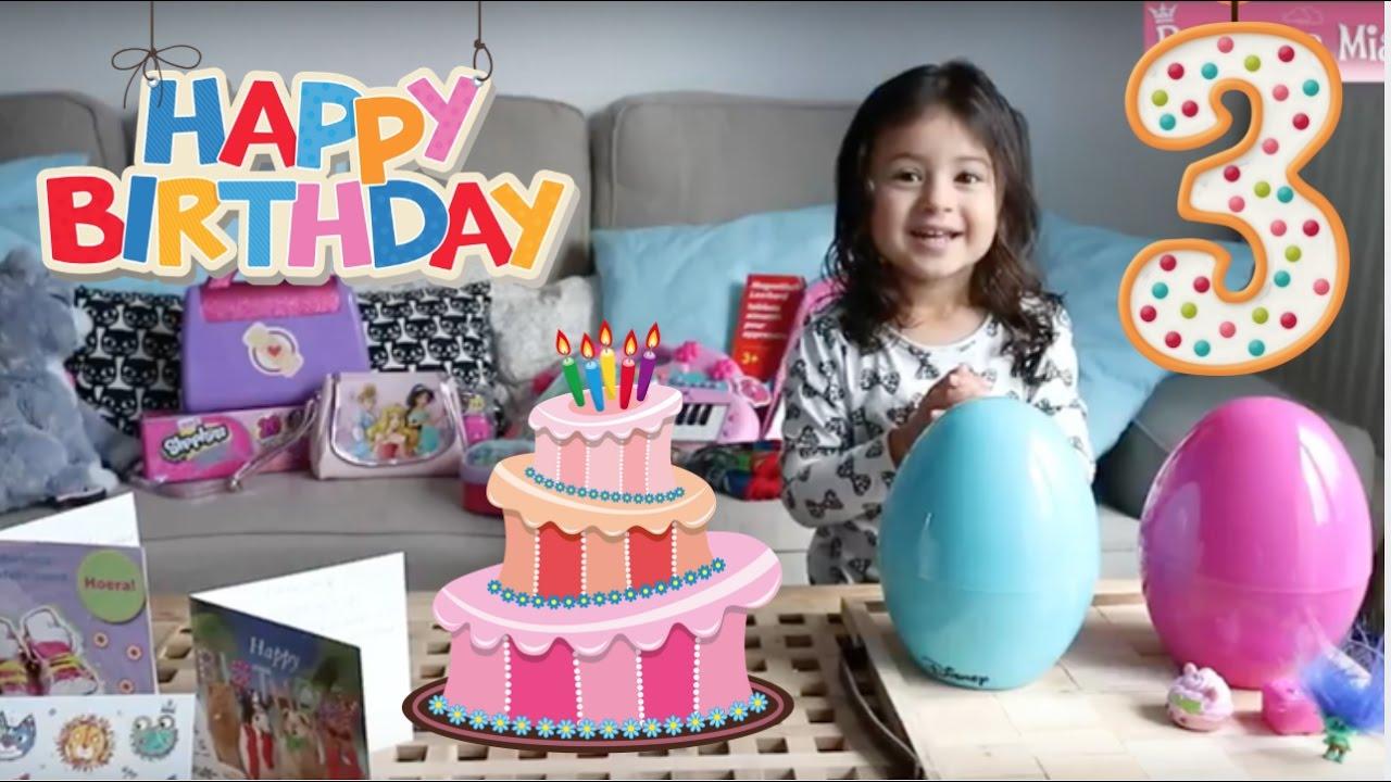 Princess Mias Birthday Gifts Happy I Am 3 Years Old
