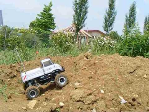 tamiya cr 01 mercedes benz unimog 406 2 2 pro line hammer m3 - youtube
