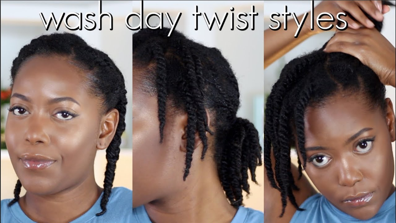 3 Easy Twist Styles How To Style Wash Day Twists Natural