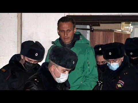 احتجاجات في موسكو بعد اعتقال  المعارض الروسي نافالني  - 03:59-2021 / 1 / 19