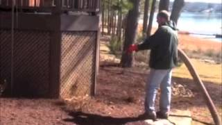 Dyed Brown Mulch Residential Install