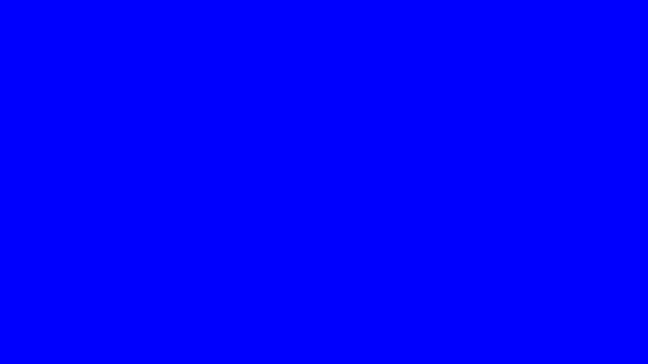 Ten Minutes of Blue Screen in HD 1080P