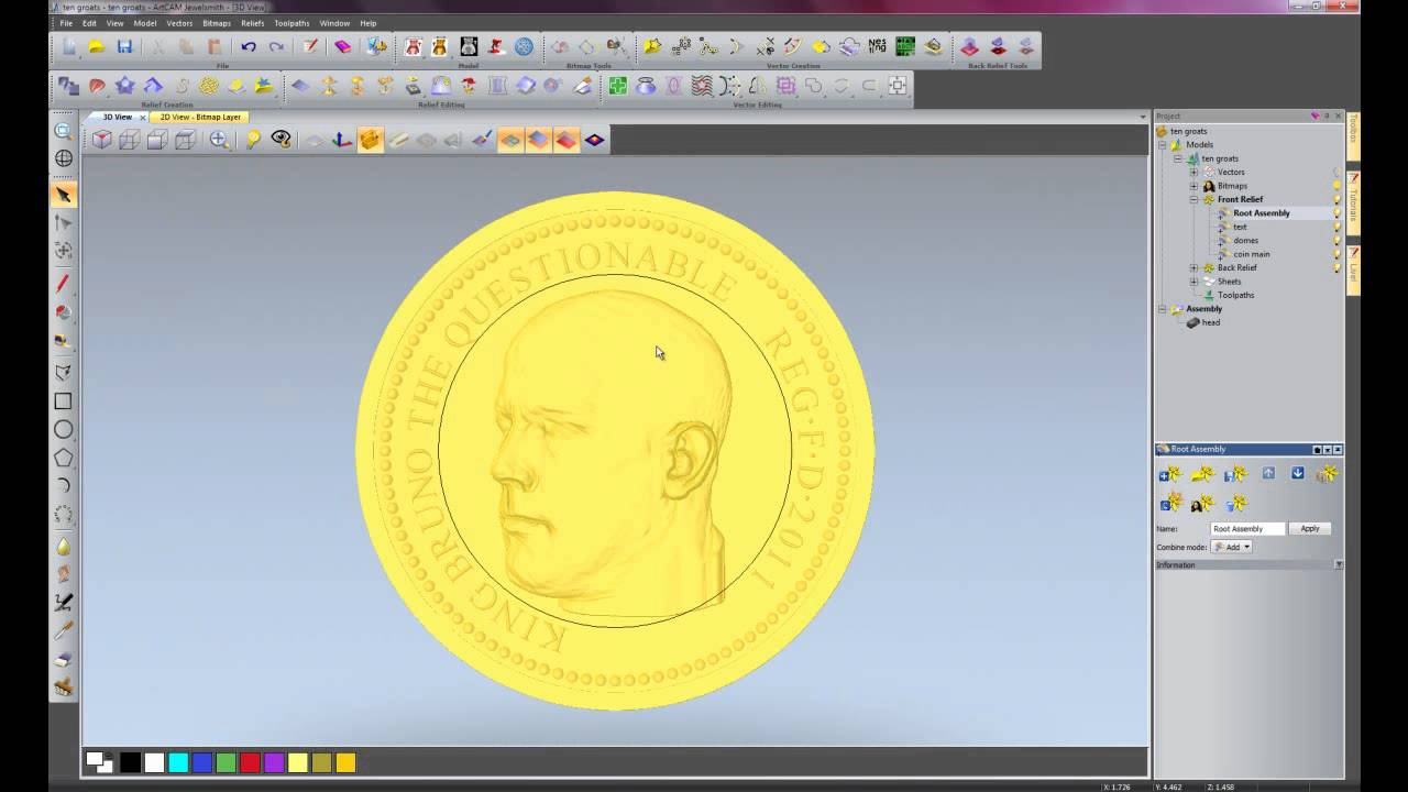 Creating Coins in ArtCAM JewelSmith