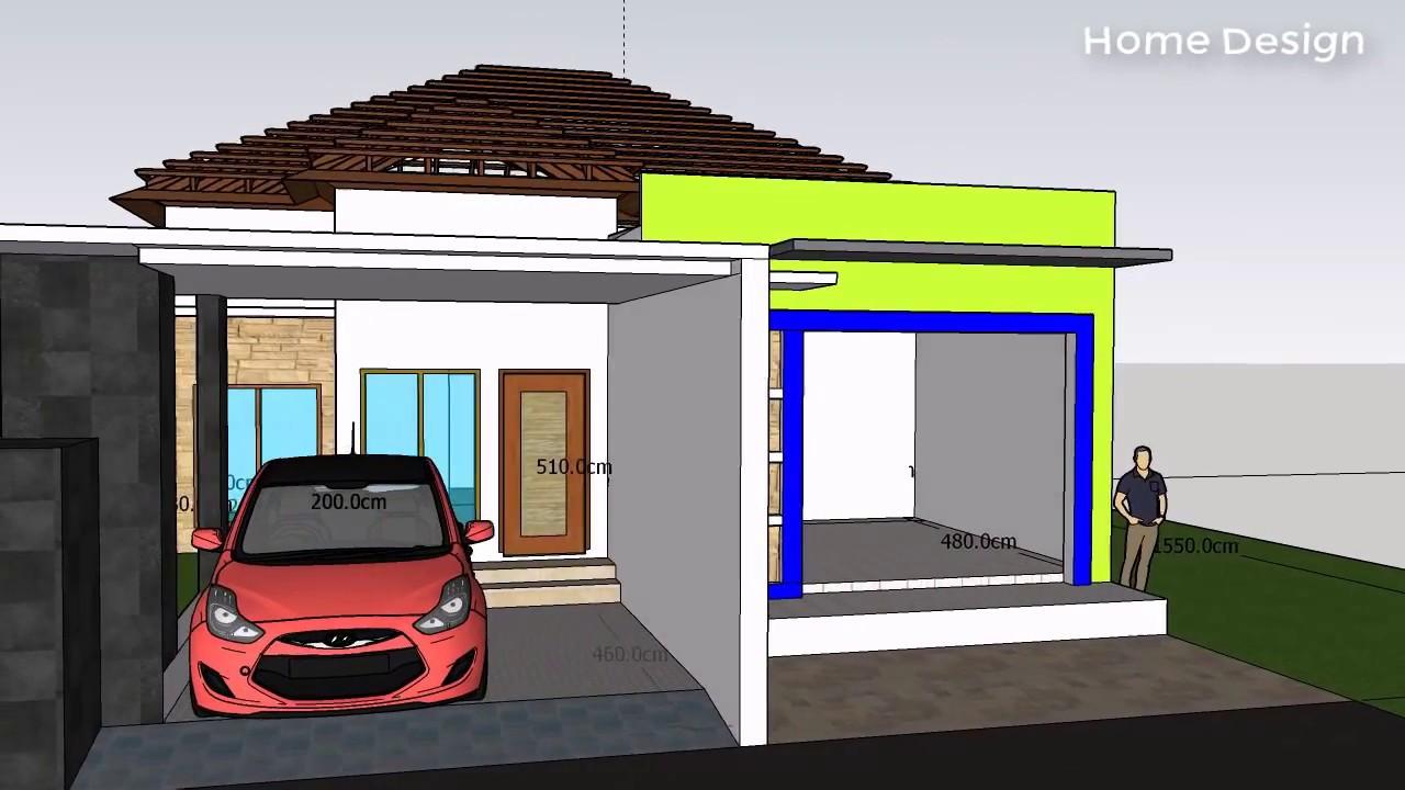 Desain Rumah Dan Toko 10 M X 15 5 M Dan 3 Kamar 1 Lantai Lengkap