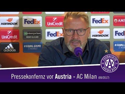 Pressekonferenz vor FK Austria Wien - AC Milan