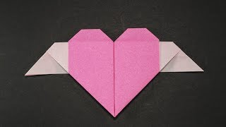 Easy Origami for kids Heart With Wings
