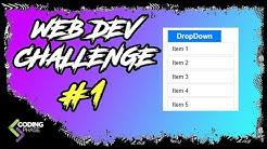 Web Developer Challenge #1 Winner - css dropdown | #CodingPhase
