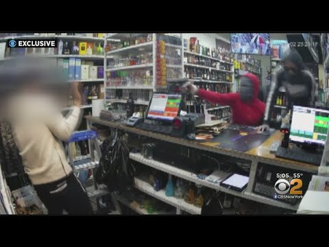 Exclusive: Video Shows Terrifying Armed Robbery Inside Queens Liquor Store