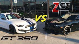 Shelby GT350 Mustang VS. Chevy Camaro Z28