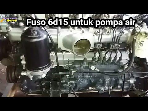 MESIN MITSUBISHI FUSO 6D15 DI JADIKAN PENGGERAK WATER PUMP/ POMPA AIR  #bayuputramotor
