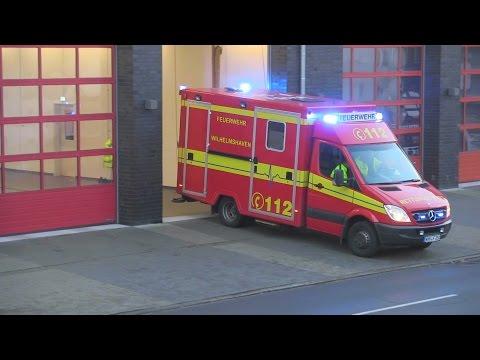 Feuerwehr, Rettungsdienst und Verkehrsbetriebe auf Einsatzfahrt in Wilhelmshaven