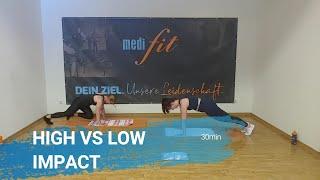 High vs Low Impact Training - 30min - medifit Wolfhagen