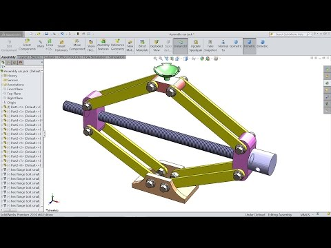 Solidworks Tutorial Design And Assembly Of Car Jack In Solidworks Solidworks Youtube