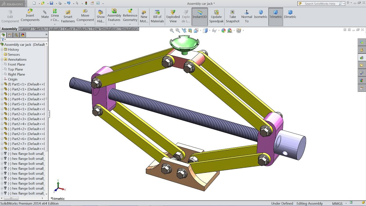 Solidworks Tutorial Design And Assembly Of Car Jack In