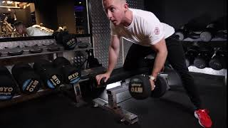 Single Arm Dumbbell Row Bench Assisted