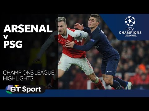 Arsenal 2-2 Paris Saint-Germain   Champions League highlights New Flash Game