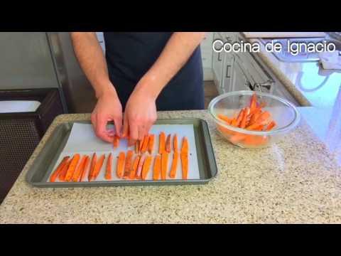 COMO HACER CAMOTE AL HORNO NO PAPAS FRITAS ( baked sweet potato fries)