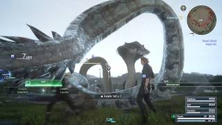 FINAL FANTASY XV - Giant Snakes Boss Fight Gameplay | Timed Quest 5 PS4 Pro