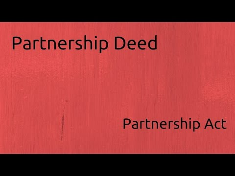 What is Partnership Deed | Indian Partnership Act 1932 | CA CPT | CS & CMA Foundation