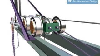 Компас-3D, визуализация | Курсовой проект ПТМ, 2004 г. | Подъемно-транспортный механизм