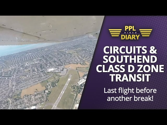Circuits and Southend Class D zone transit | Last flight before another break! (Cessna 150 G-BMLX)