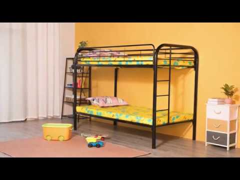 Assembly Instructions for Twin Over Twin Metal Bunk-bed with Double Ladder