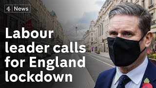 Labour leader calls on government to impose national lockdown for England within 24 hours
