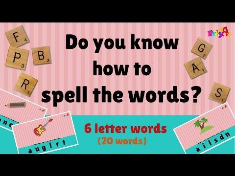 Spelling of words (6 letter) | Scrabble | Word Games 1 by BabyA Nursery Channel