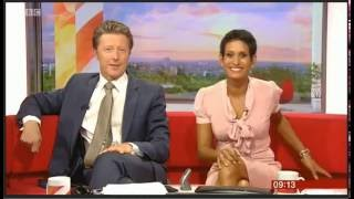 Slips upskirt News anchor nipple