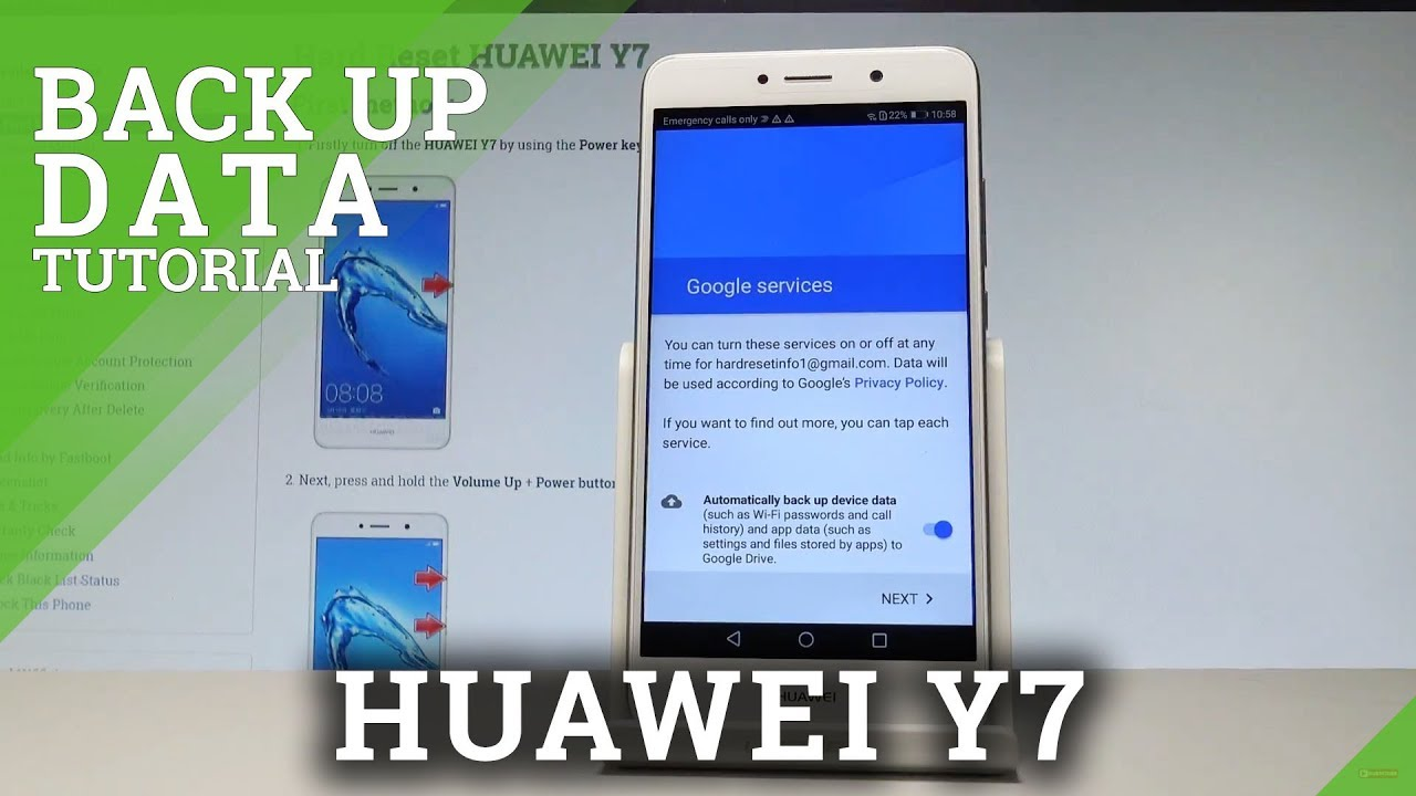 How to Back Up Data in HUAWEI Y7 - Enable Google Backup |HardReset info