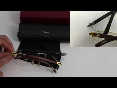 Compare Real and Fake Cartier Eyeglasses, Sunglasses, Glasses