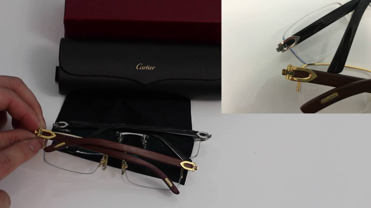 21fe99aef825f Compare Real and Fake Cartier Eyeglasses