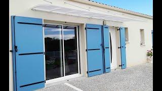 Installation de marquises suspendues près de Royan en Charente Maritime