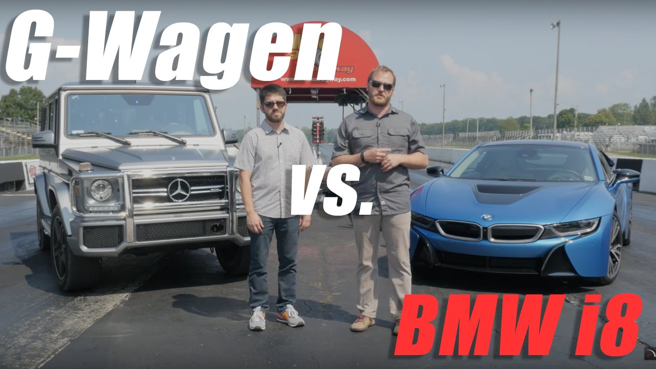 Mercedes G63 Amg Vs Bmw I8 At Milan Dragway Youtube