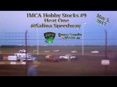 IMCA Hobby Stocks #8, Heat, Salina Speedway, 2017