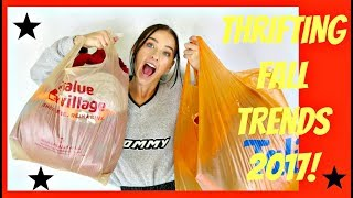 THRIFTING FALL FASHION TRENDS 2017! - TRIP TO THE THRIFT #13