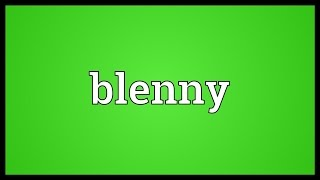 Blenny Meaning