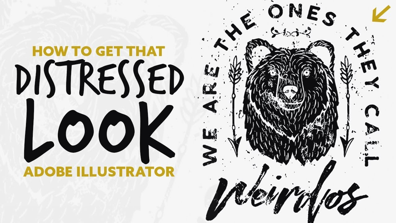 How To Create Distressed Graphics In Adobe Illustrator 2018