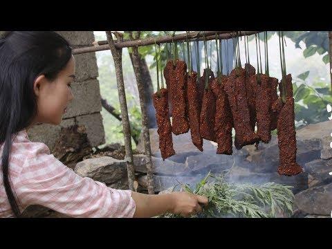 云南火烧牛肉干巴,做给妈妈的菜【滇西小哥】