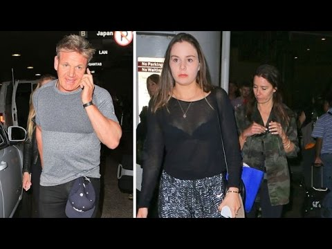 Injured Gordon Ramsay And Wife Tana Arriving In LA For Vacation