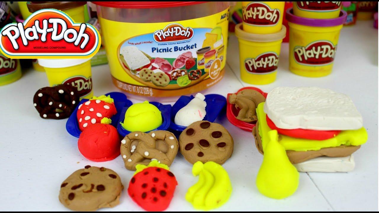 Plastilina play doh picnic bucket juguetes play doh en espa ol youtube - Cocina play doh ...
